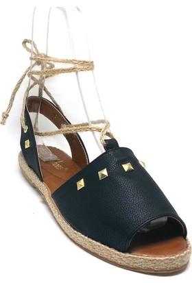 Shop And Shoes 127-819T Kadın Espadril Siyah