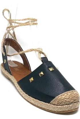Shop And Shoes 127-820T Kadın Espadril Siyah
