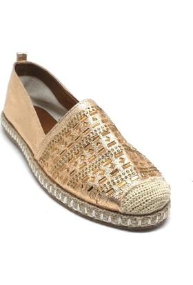 Shop And Shoes 172-80 Kadın Espadril Altın