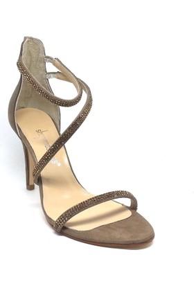 Shop And Shoes 128-2746 Kadın Ayakkabı Vizon Süet