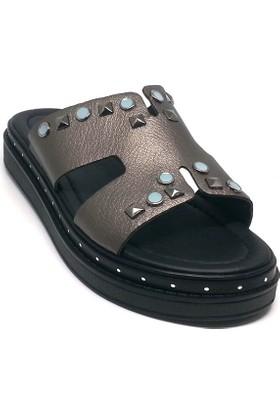 Shop And Shoes 066-1612 Kadın Terlik Kurşun