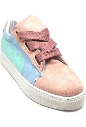 Shop And Shoes 172-56 Kadın Ayakkabı Pudra Süet