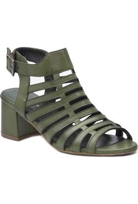 Gedikpaşalı 8Ya 3084 Yeşil Terlik Sandalet