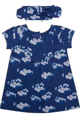 Organicera Organik Saç Bantlı Elbise Bahar Dalı Baskılı