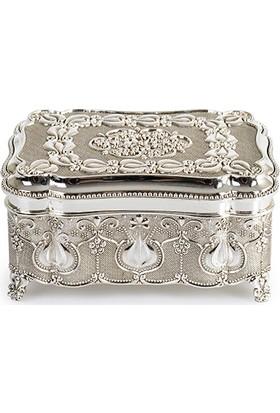 İPek Gümüş Mücevher Kutusu Münır333: