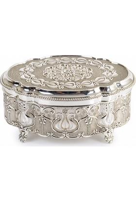 İPek Gümüş Mücevher Kutusu Gümu955