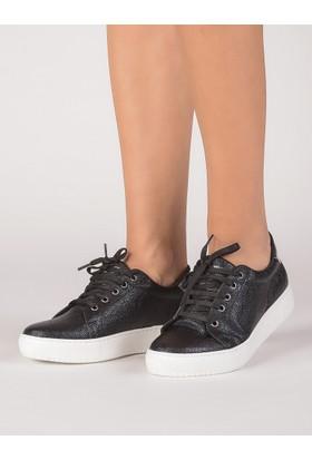 Mecrea Kadın Frencesco Siyah Gümüş Sneaker