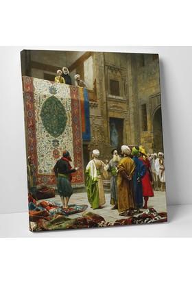 Jean Leon Gerome Halı Tüccarı Kanvas Tablo 30 x 40 cm