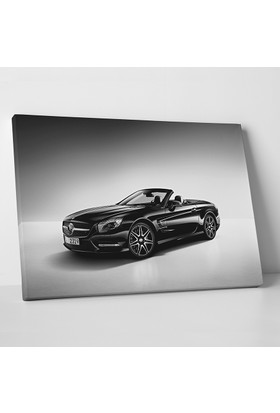 Anonim Mercedes Siyah Beyaz Kanvas Tablo 30 x 20 cm