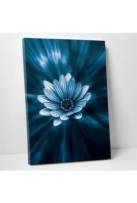 Anonim Mavi Çiçek Kanvas Tablo 20 x 30 cm