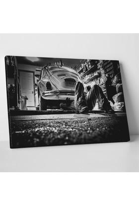 Ryan McGuire Garajda Vosvos Tamiri Kanvas Tablo 30 x 20 cm