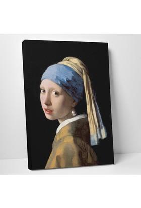 Johannes Vermeer İnci Küpeli Kız Kanvas Tablo 30 x 40 cm