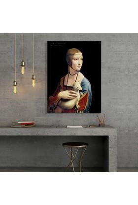 Leonardo Da Vinci Erminli Kadın Kanvas Tablo 30 x 40 cm