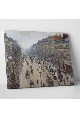 Camille Pissarro Kış Sabahı Kanvas Tablo 40 x 30 cm