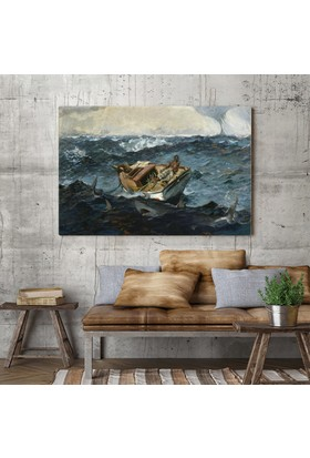 Winslow Homer Winslow Homer Gulf Stream Kanvas Tablo 30 x 20 cm