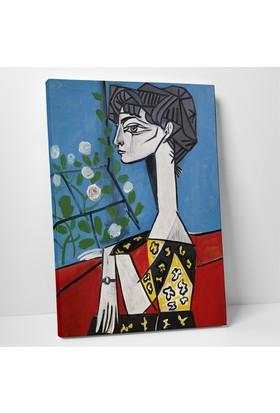 Pablo Picasso Jacqueline Çiçekler Kanvas Tablo 20 x 30 cm