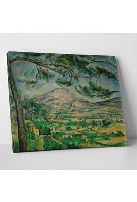 Paul Cezanne Sainte Victoire Dağı Manzarası Kanvas Tablo 40 x 30 cm