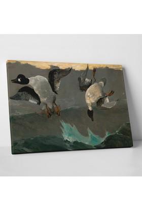Winslow Homer Right and Left Kanvas Tablo 30 x 20 cm