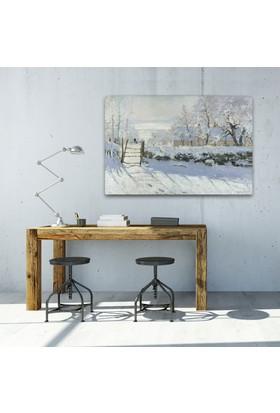 Claude Monet The Magpie Kanvas Tablo 30 x 20 cm