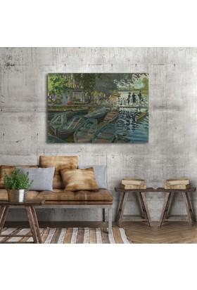 Claude Monet Bathers at La Grenouillère Kanvas Tablo 30 x 20 cm