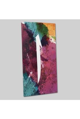 Mâbeyn Stüdyo Elif Harfi Kanvas Tablo 25 x 50 cm