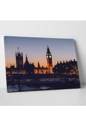 Anonim Big Ben Saat Kulesi Londra Manzarası Kanvas Tablo 30 x 20 cm