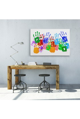 Anonim Renkli Eller Tasarım Kanvas Tablo 30 x 20 cm