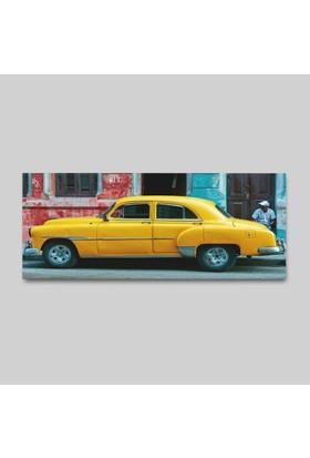 Anonim Nostalji Taksi Kanvas Tablo 150 x 75 cm