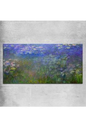 Claude Monet Monet - Su Lilyumları Kanvas Tablo 50 x 25 cm