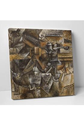 Pablo Picasso Glass of Absinthe Kanvas Tablo 25 x 25 cm