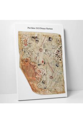 Anonim Piri Reis Dünya Haritası Kanvas Tablo 30 x 45 cm