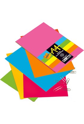 Keskin Color A4 Renkli Karışık Fotokopi Kağıdı 50'Li