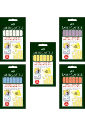 Faber-Castell Tack-it Karışık Renk 50gr.