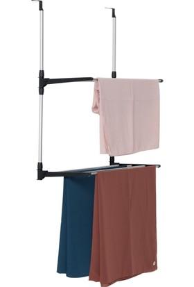 Biricik 2 İki Katlı Kapı Arkası Çamaşır Kurutma Askısı Kurutmalık