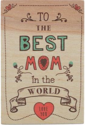 Biggdesign Best Mom Ahşap Kartpostal