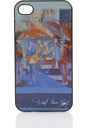 Biggdesign iPhone 4 Beyaz Kapak Şemsiyeler