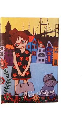 Biggdesign Çiçekli Kız Defter 9X14
