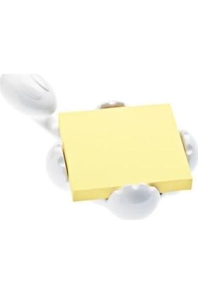 Koziol 5548525 Archibald Bloknot Tutucu Beyaz