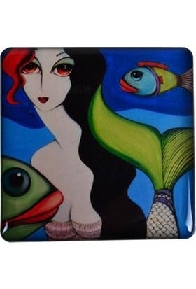 Monatitti Balık Kadın Magnet