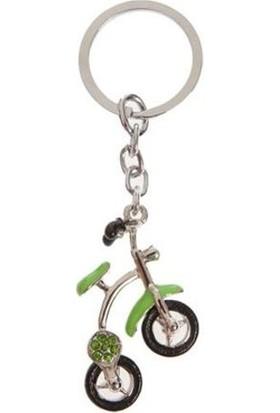 Nektar Yeşil Taşlı Bisiklet Anahtarlık