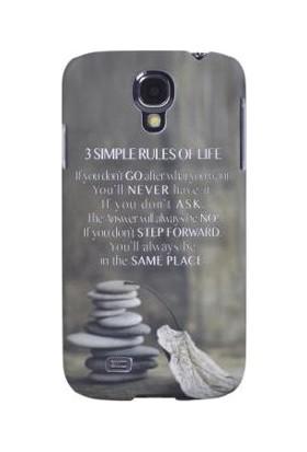 What's Your Case Three Simple Rules Galaxy S4 Telefon Kılıfı