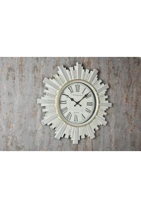 Setabianca Duvar Saati Aynalı İnce Şeritli Krem