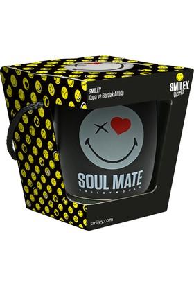 Smiley Soulmate Kupa Ve Bardak Altlığı