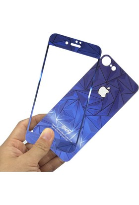 Kapakevi iPhone 5 / 5S Desenli Cam Koruma - Lacivert