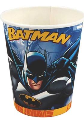 Parti Bulutu Batman Karton Bardak 8'li