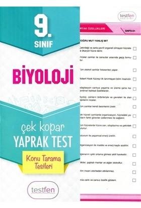 9. Sınıf Biyoloji Konu Tarama Yaprak Testleri