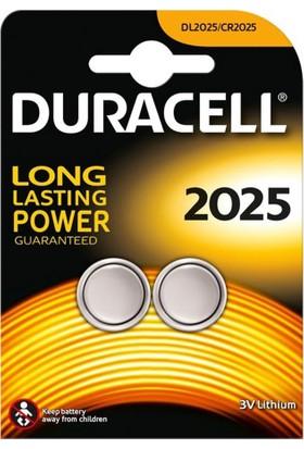 Duracell CR2025 Lithium 3V Pil 2 'Li