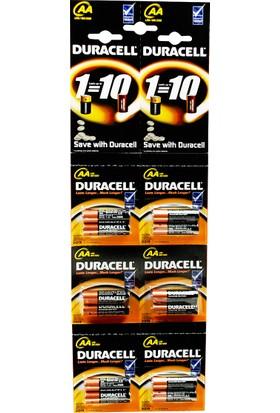 Duracell AA Kartela Pil 12'Li