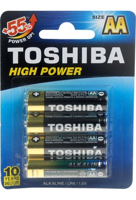 Toshiba LR6 High Power Kalem Pil 4Lü