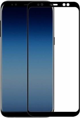 Case 4U Samsung Galaxy A8 2018 Tam Kaplayan Ekran Koruyucu - Nano Fiber - Siyah